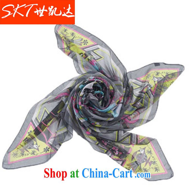 The Qaeda Korean female ultra-classy towel stylish Ms. 100 ground spring scarf snow spinning towel Cape beach towels, old silk scarf YF 3101 gray 140 _ 140