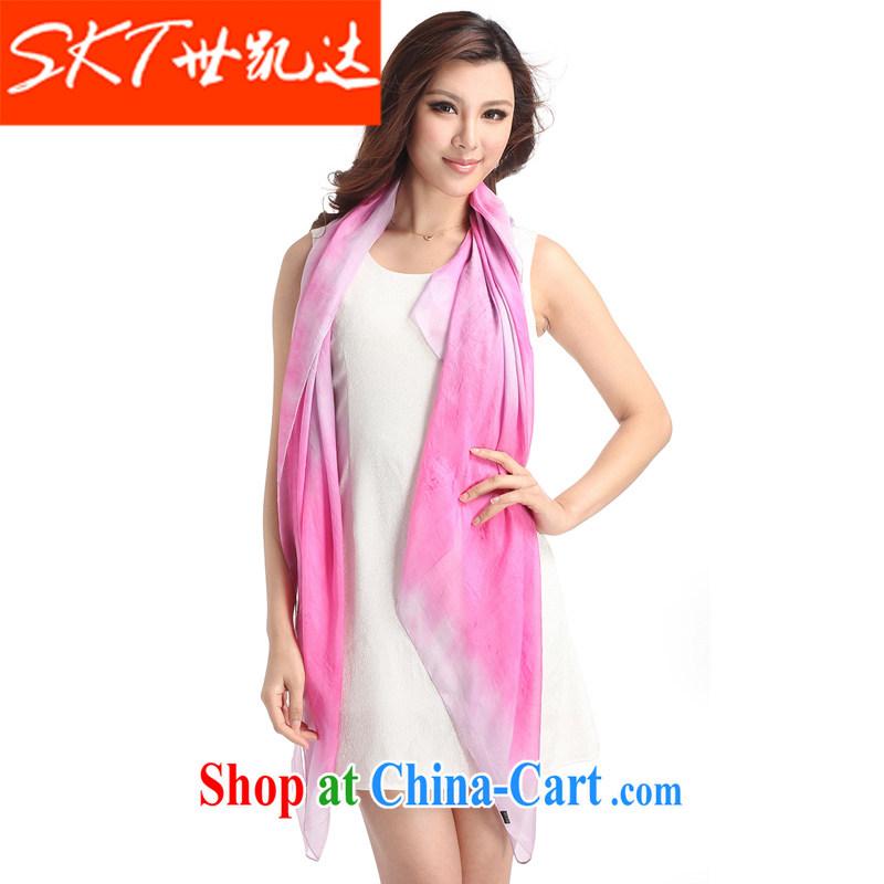 The Al Qaeda is silk girl, classy and towels 100% sauna silk long silk scarf-shawl stylish Business Gifts scarves attire silk scarf ZP gray 130 * 130