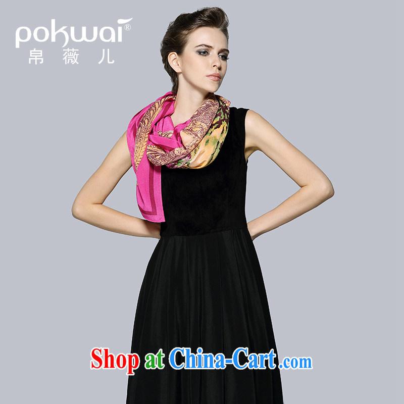 baik Ms Audrey EU's European site 100 _ sauna silk floral silk scarf silk scarf shawl suit