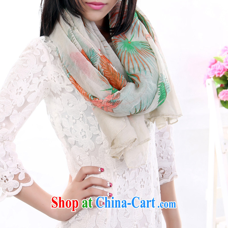 charming smile Korean Bali yarn wrapped package silk scarf shaded shawls scarf with two large Long Female BJ BJ 015 017 white