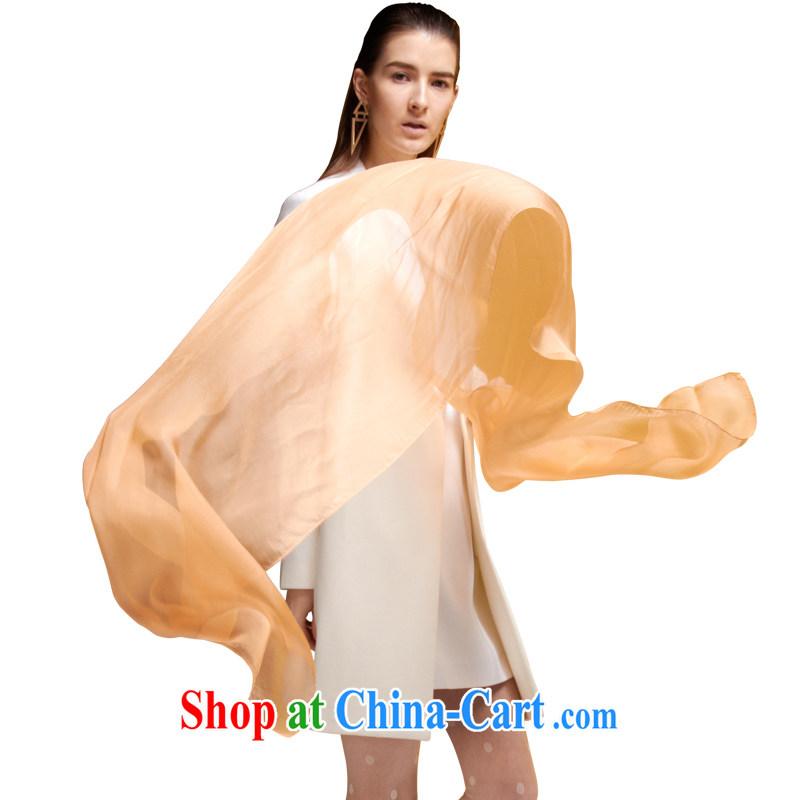 Silk silk scarf girl, sauna silk spring and summer sunscreen solid color standard long solid color scarf shawl 100 ground orange